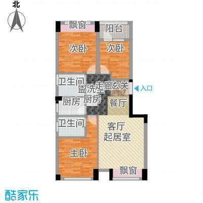 宝嘉誉峰花园108.00㎡6#户型