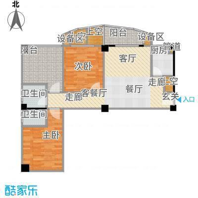 锦辉国际花园户型2室1厅2卫1厨