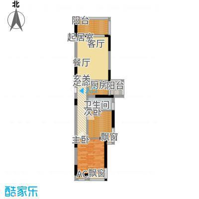 华盈尚轩77.87㎡B-6户型