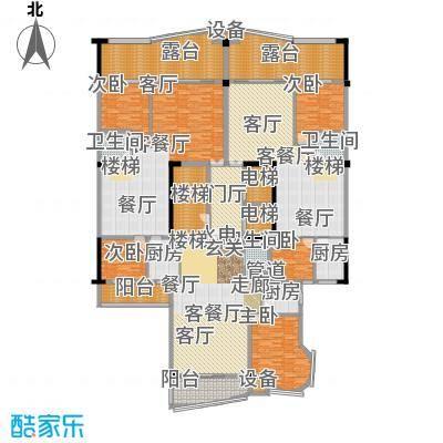源昌鑫海湾户型5室3厅3卫3厨