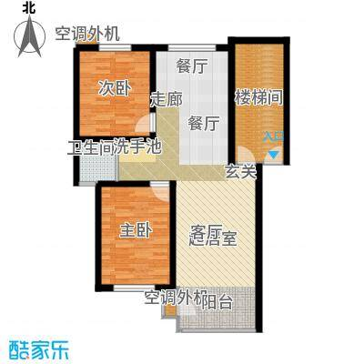 秦淮缘小区86.54㎡A户型