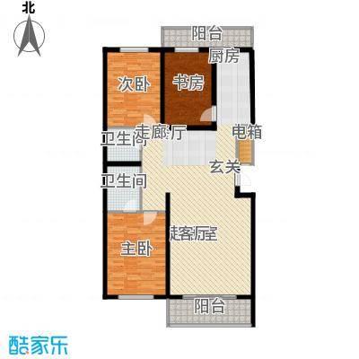 兆宸公寓151.38㎡双卫户型