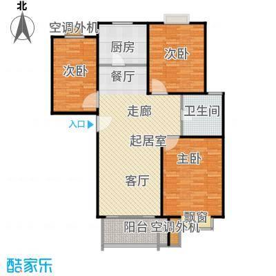 圣源新居户型3室1卫1厨