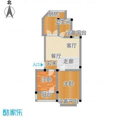 宇秦园户型2室1厅1卫1厨