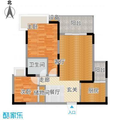 龙湖枫香庭71.82㎡房型户型