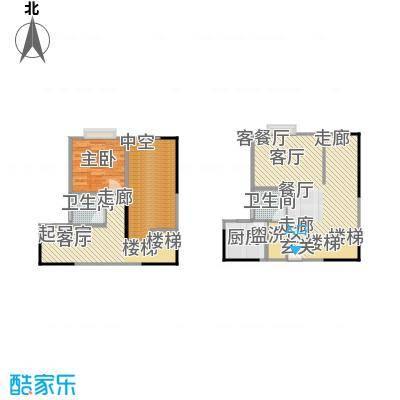 聚维书香世家26.90㎡房型复式户型