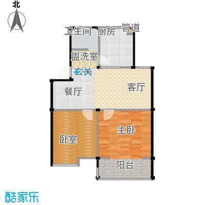瀛洲湾花园户型1室1厨