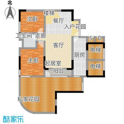 峰景鉴筑C-104-首层下层-户型