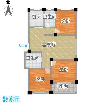 鹏辉新天居户型3室1厅2卫1厨