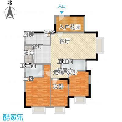 国华湖畔新城139.61㎡13栋1单元01号2-14层户型