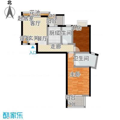 世纪桃花苑88.52㎡4a户型
