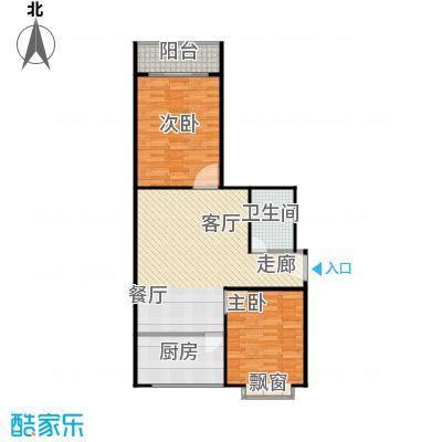天业翠苑户型2室1厅1卫1厨