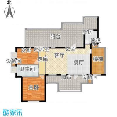 华业玫瑰谷106.89㎡H19顶层户型
