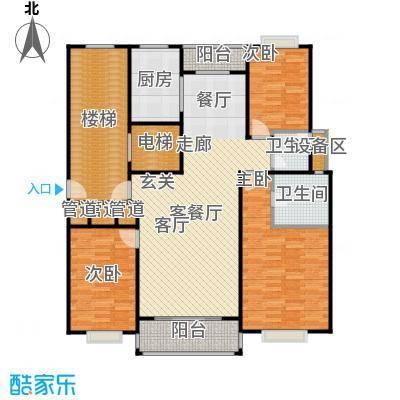 天峰名苑户型3室1厅2卫1厨