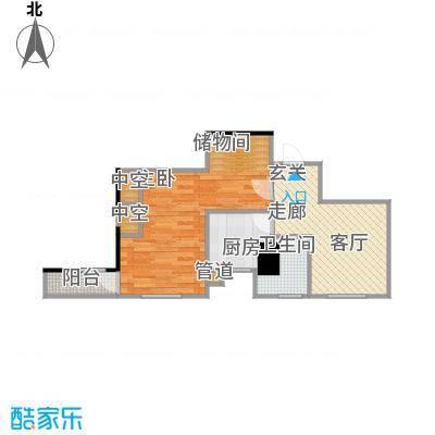 四达新时代广场54.44㎡E户型