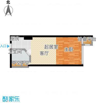 世纪东苑SOHO51.94㎡06朝南-户型