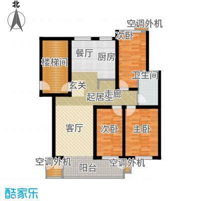 秦淮缘小区114.67㎡B户型