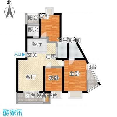 苏建艳阳居户型3室1厅2卫1厨