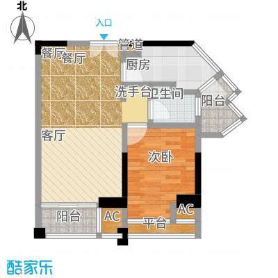 信和上筑户型1室1厅1卫1厨