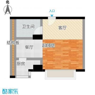 舜江广场40.52㎡户型