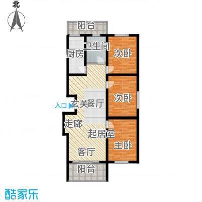 兆宸公寓136.46㎡单卫户型