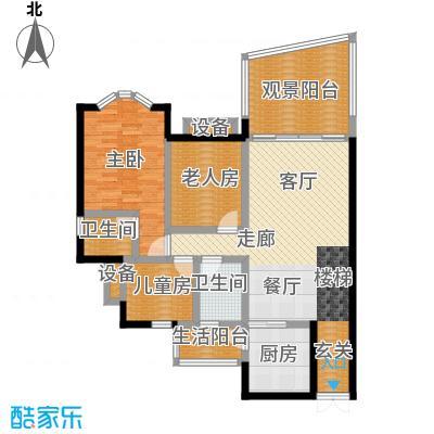 洋世达・阳光华庭108.99㎡房型错层户型