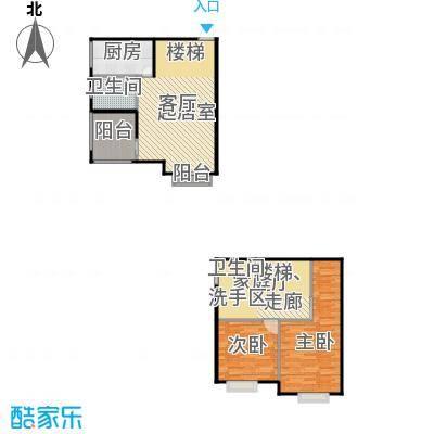 东方山水75.00㎡房型户型