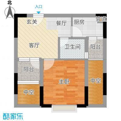 东方新天地大厦43.60㎡A双阳台户型