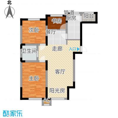 亚泰桂花苑102.00㎡幸福基地户型
