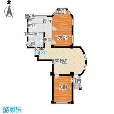 金湾新城B区二期98.00㎡户型