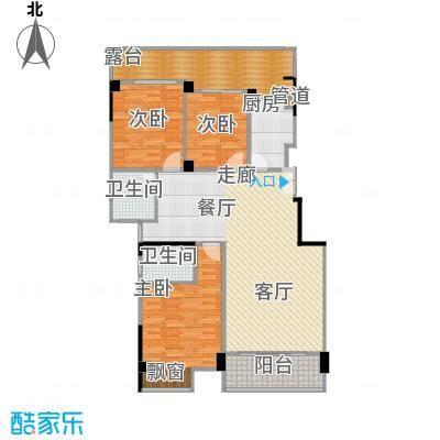 碧海蓝天户型3室1厅2卫1厨