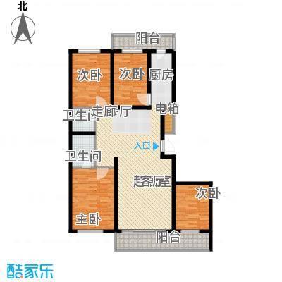 兆宸公寓152.27㎡双卫户型