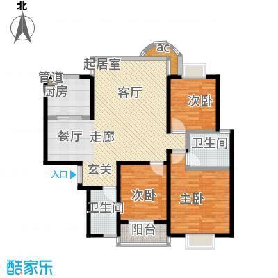 鑫天鑫城户型3室2卫1厨