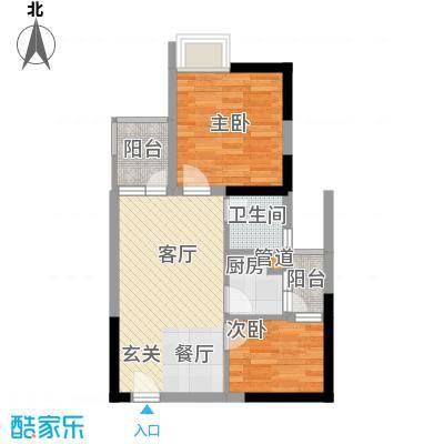 东方新天地大厦60.93㎡B双阳台户型