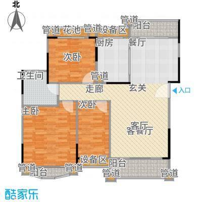 丹霞翠微苑105.19㎡10748m2户型