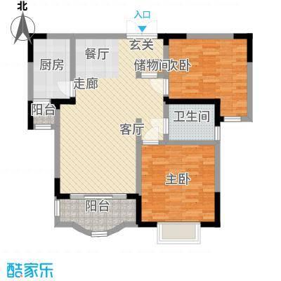 恒润花园95.30㎡9728m2户型