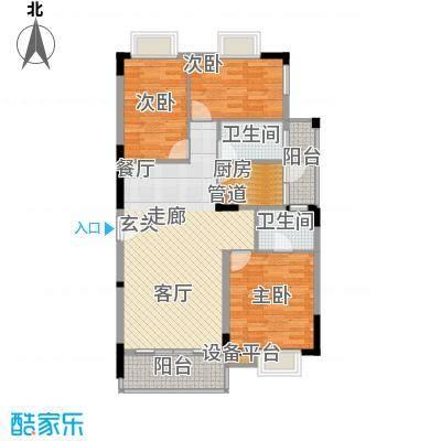 大城小院116.00㎡三期2栋1、2、3单元户型