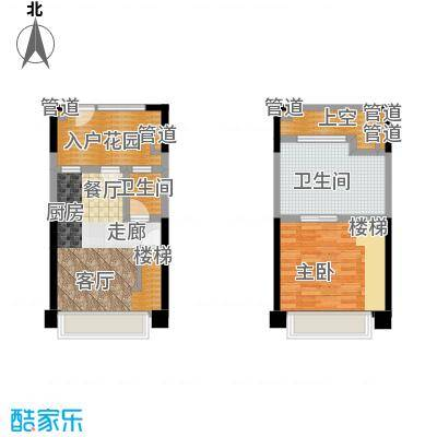 华发新城68.00㎡lomoL1型小复式公寓户型
