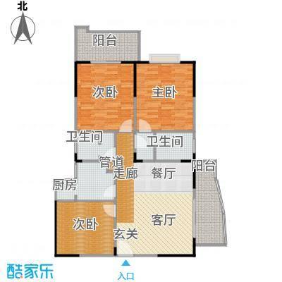 百盛・天心华庭128.56㎡B22户型