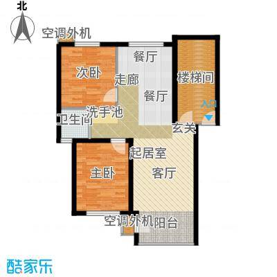 秦淮缘小区87.79㎡户型