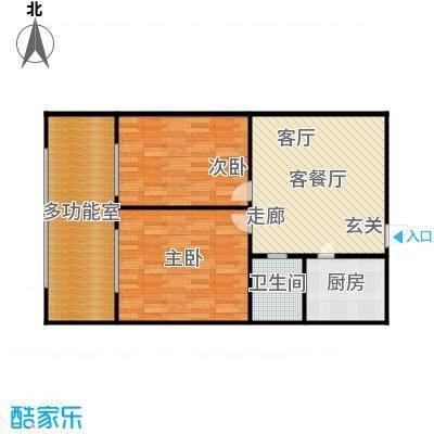 煜卫泽园户型2室1厅1卫1厨