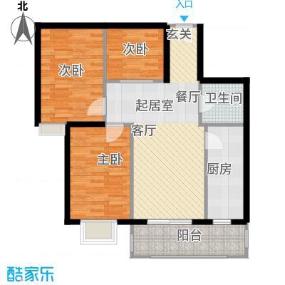 富康苑户型3室1卫1厨