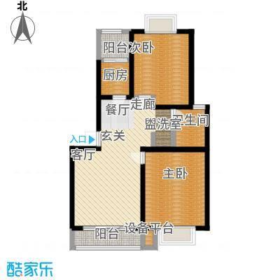 苏建艳阳居户型2室1厅1卫1厨