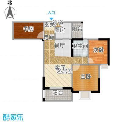 汇盛发展大厦户型3室1卫1厨
