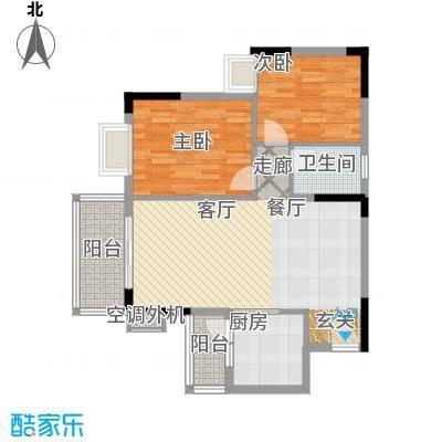 海尚绿洲89.73㎡户型