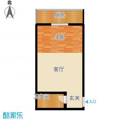 龙祥御苑54.16㎡户型