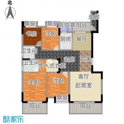 宝嘉誉峰花园167.27㎡1#楼户型