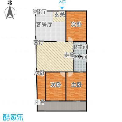 煜卫泽园户型4室1厅2卫
