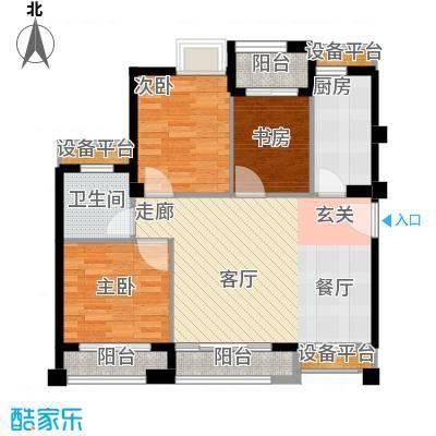 泉舜泉水湾91.00㎡21号楼A、D单元户型