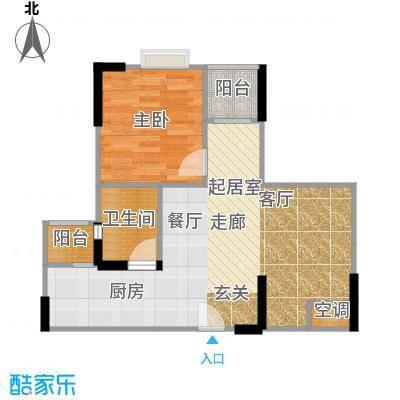 汇盛发展大厦户型1室1卫